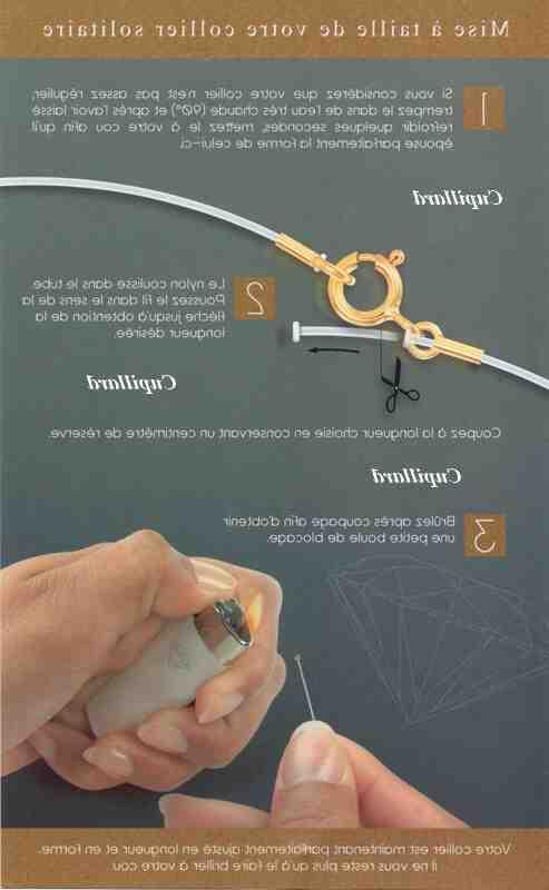 Comment fermer un bracelet fil nylon ?