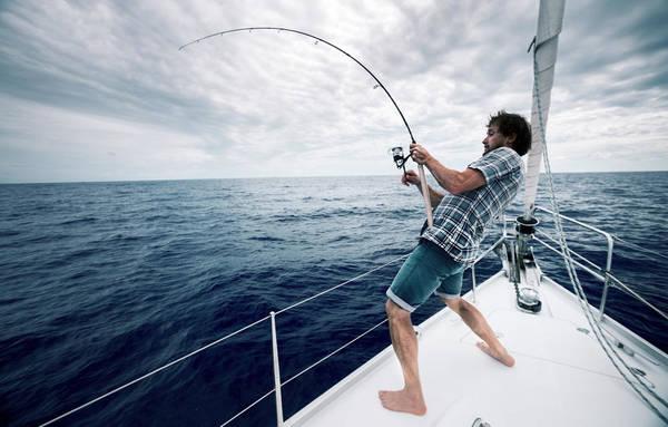 Canne peche en mer